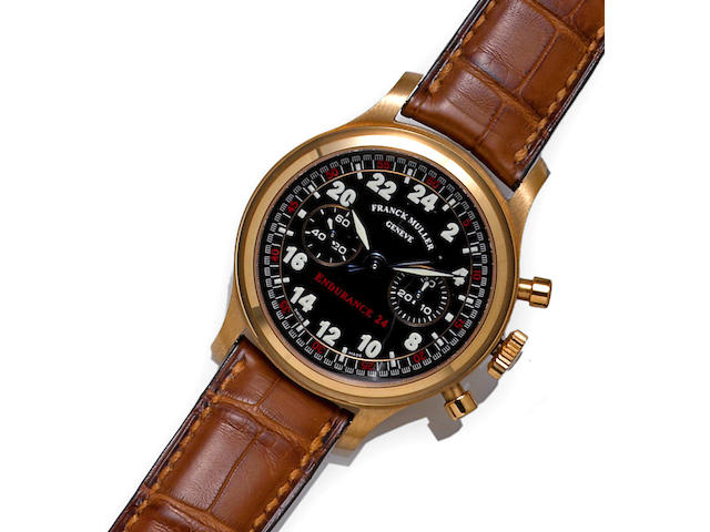 Franck Muller. 18k rose gold chronograph wristwatch