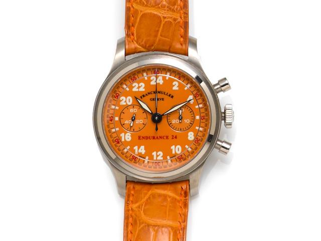 Franck Muller. 18k white gold chronograph wristwatch