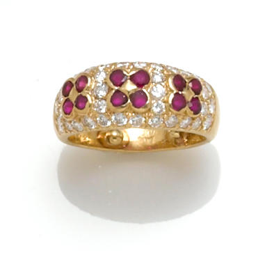 A ruby and diamond ring, Van Cleef & Arpels