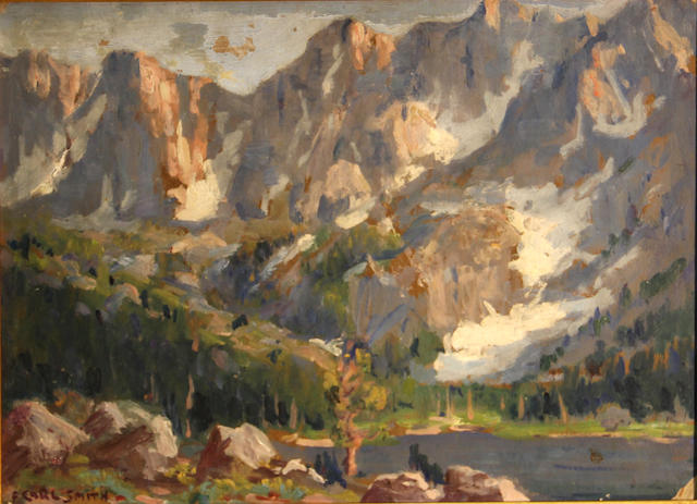 F. Carl Smith (American, 1868-1955) High crags, high Sierras 12 x 16in