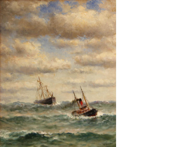 W.A. Coulter, Ship in tow