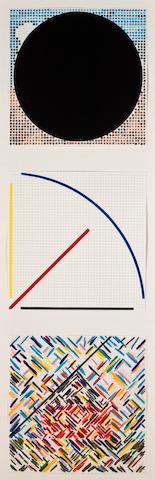 Jennifer Bartlett, Untitled: Geometric Abstracts (3), 46 1/4 x 17 1/4in.