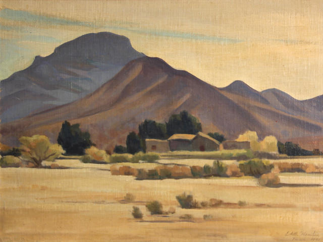 Edith Hamlin, Tucson, o/cb, 12 x 16in
