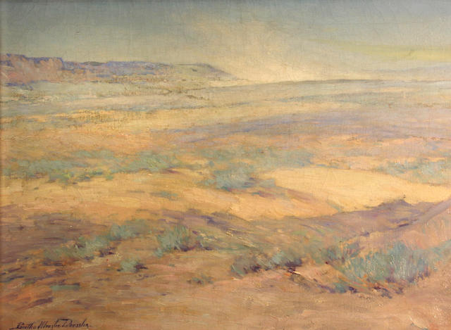 Bertha Dressier Peyton, Flowering dunes, o/c, 18 x 24in
