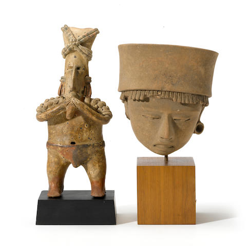 "A Nayarit ""flute player"" and a Veracruz head fragment"