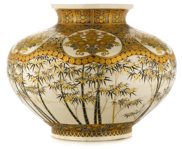 A large satsuma vase 19th century
