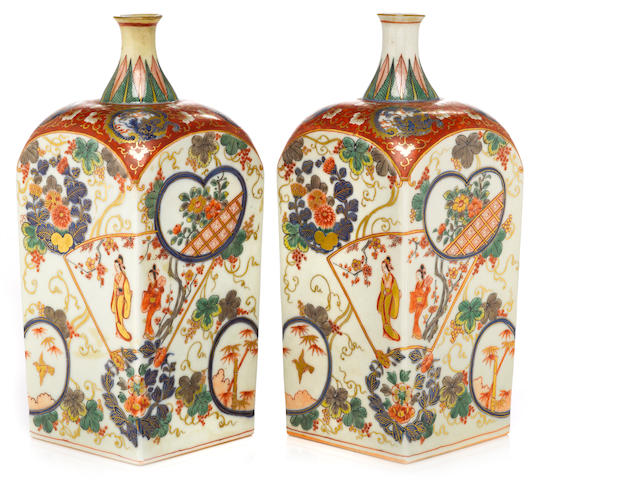 A pair of kakiemon bottles Edo period