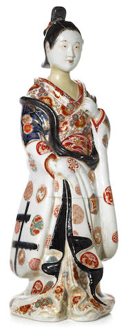 An imari figure of a maiden