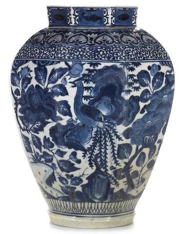 An Arita porcelain storage jar  17th century