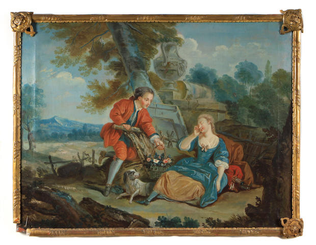 French School Courtship (a pair)