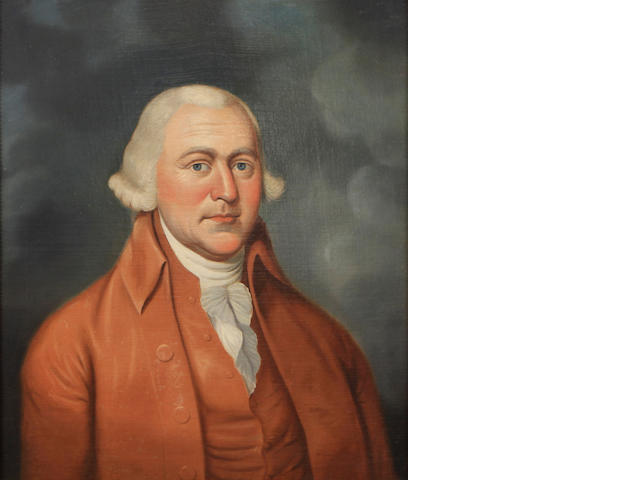 American School, late 18th/early 19th Century A pair of portraits of gentlemen (Washington and Adams)