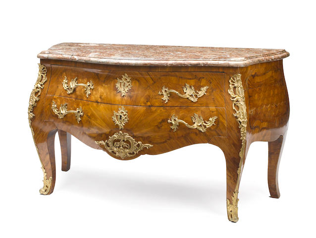 A good Louis XV gilt bronze mounted and parquetry commode<BR />third quarter 18th century