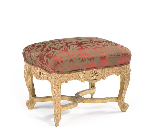 A Régence style giltwood tabouret<BR />late 19th century