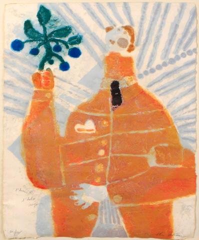 Théo Tobiasse (French/Israeli, b. 1927); L'Homme á Habit Rouge;