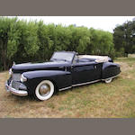 1942 Lincoln Continental Cabriolet  Chassis no. H133719 Engine no. H133719