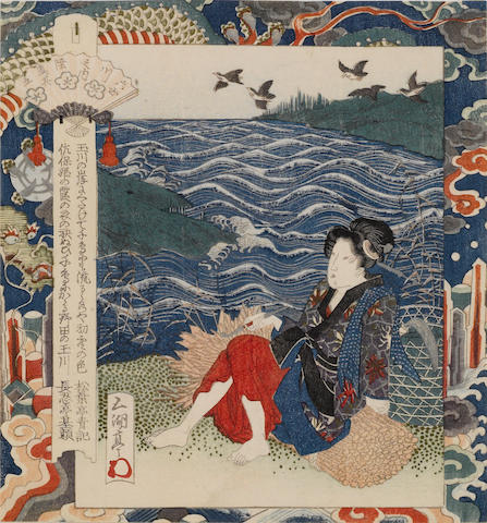 Utagawa Sadakage (act. 1818-44) Two surimono