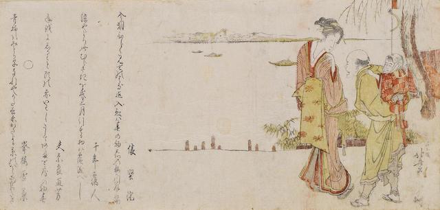 Katsushika Hokusai (1760-1849)<BR />One surimono