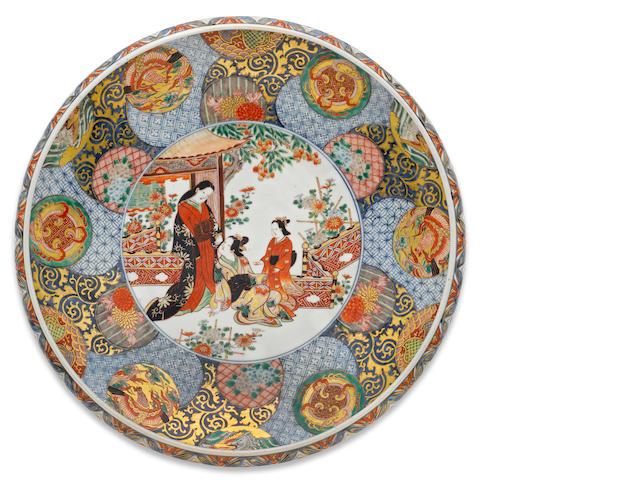 A large imari charger Meiji period