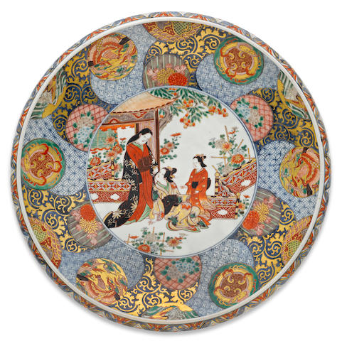 A large imari charger Meiji period