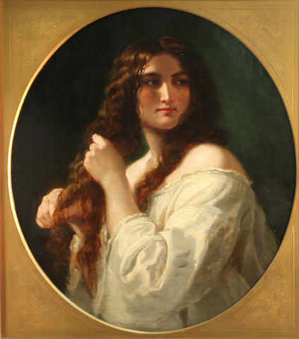 French School A young beauty 30 x 24 3/4in