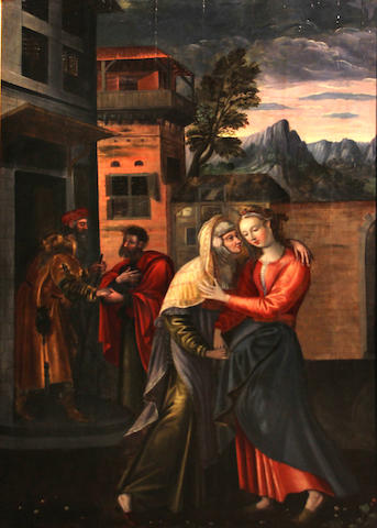Italian School, 17th Century The Visitation 42 1/4 x 27 1/4in
