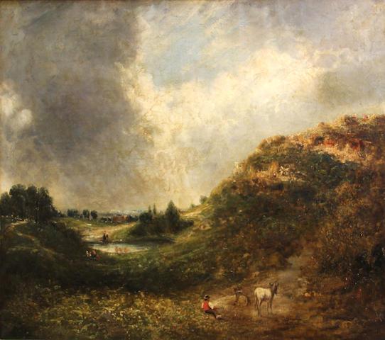 Follower of John Constable (East Bergholt 1776-1837 London) Hampstead Heath 25 x 30in