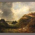 Follower of John Constable (East Bergholt 1776-1837 London) Hampstead Heath 25 x 30in