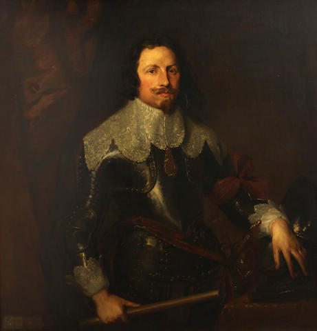 After Sir Anthony van Dyck A portrait of Thomas François de Carignan 44 x 41in