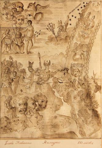 Italian School, 18th Century Sic fata volunt 11 1/2 x 9in (29.2 x 22.8cm)