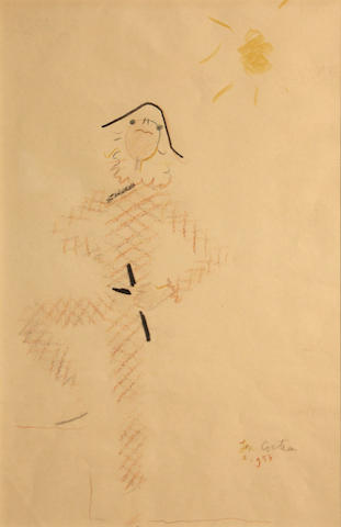 Jean Cocteau (French, 1889-1963) Arlequin, 1956 16 1/2 x 10 3/4in