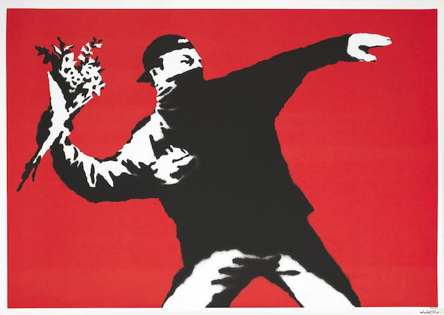 Banksy (b. 1975) Love is in the Air <BR />