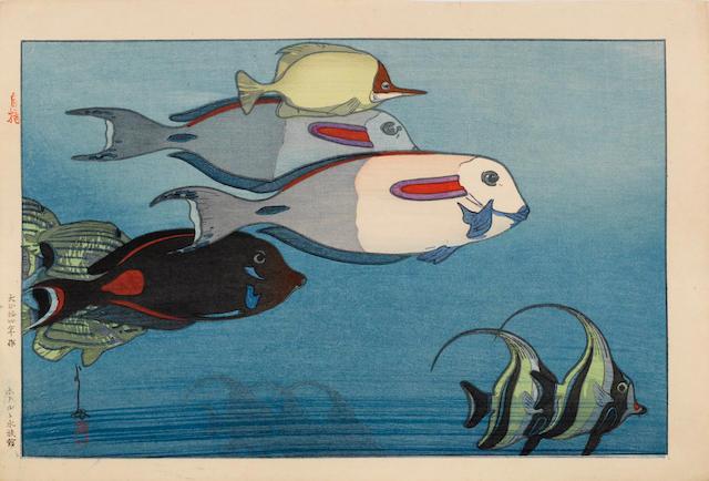 Hiroshi Yoshida (1876-1950)<BR />One woodblock print