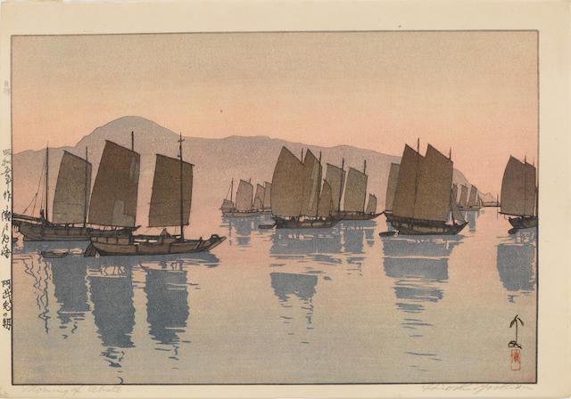 Hiroshi Yoshida (1876-1950)<BR />Three woodblock prints