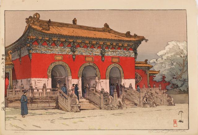 Hiroshi Yoshida (1876-1950)<BR />Five woodblock prints
