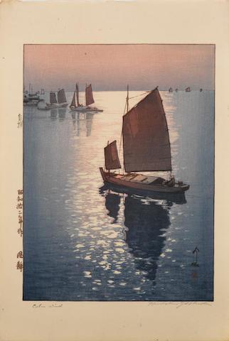 Hiroshi Yoshida (1876-1950)<BR />Two woodblock prints