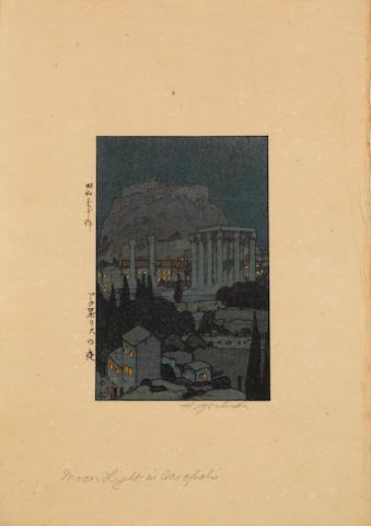 Hiroshi Yoshida (1876-1950)<BR />Five small woodblock prints