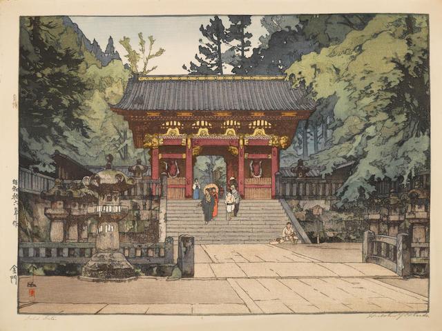 Hiroshi Yoshida (1876-1950)<BR />One oversize woodblock print
