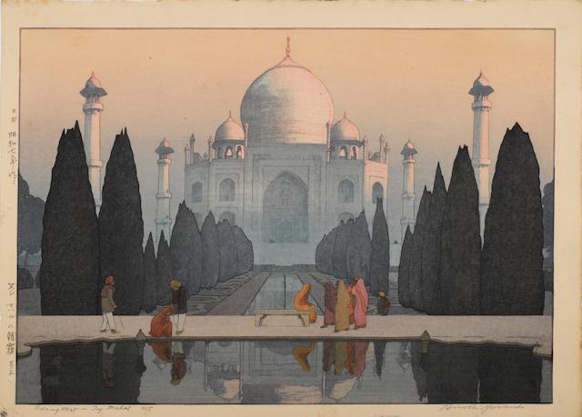 Hiroshi Yoshida (1876-1950) Two large woodblock prints