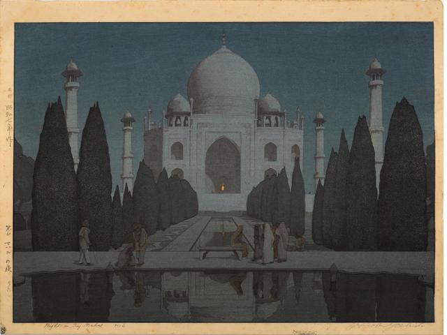 Hiroshi Yoshida (1876-1950)<BR />Two oversize woodblock prints