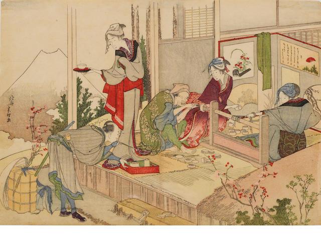 Katsushika Hokusai (1760-1849): One woodblock print