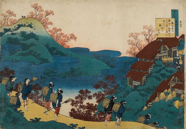 Katsushika Hokusai (1760-1849)<BR /> One woodblock print