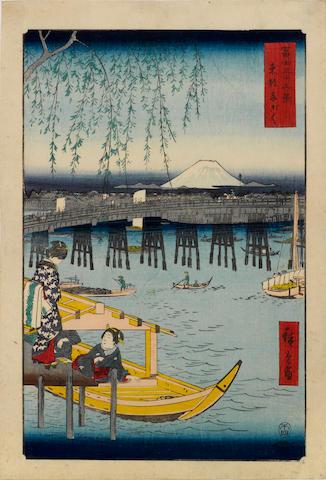 Utagawa Hiroshige (1797-1858)<BR />Six woodblock prints