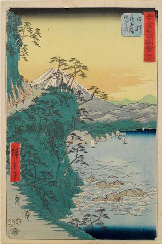 Utagawa Hiroshige (1797-1858)<BR />Ten woodblock prints