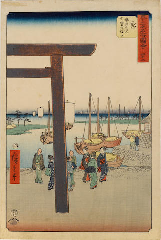 Utagawa Hiroshige I (1797-1858) Ten woodblock prints