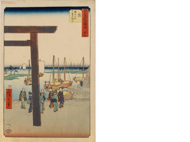 Utagawa Hiroshige I (1797-1858) and Hiroshige II (1826-1869)<BR />Ten woodblock prints