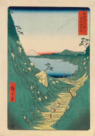 Utagawa Hiroshige (1797-1858)  Six woodblock prints