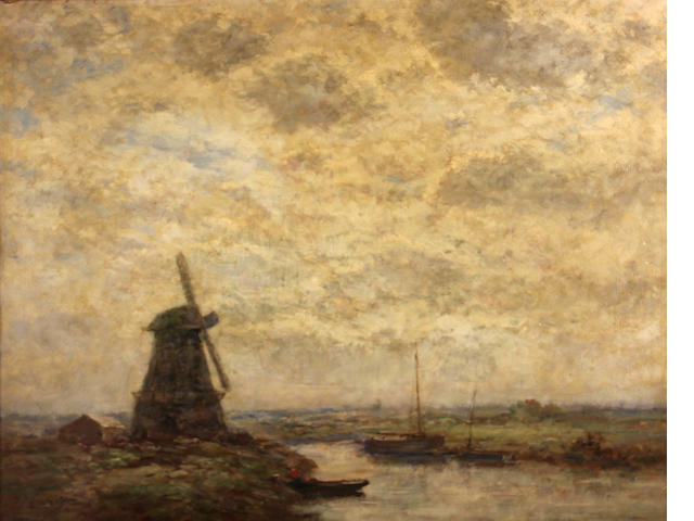 Dutch School A polder landscape 20 1/4 x 24 1/4in