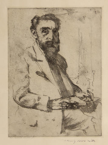 Lovis Corinth (German, 1858-1925); Portrait of Hermann Struck;