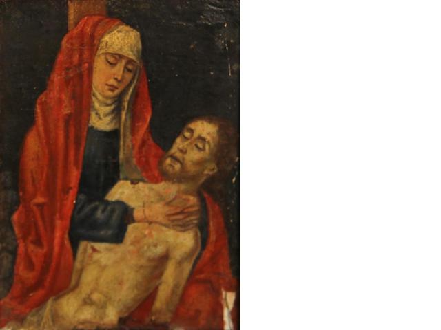 Flemish School, 18th(?) Century Pietà 7 x 5in
