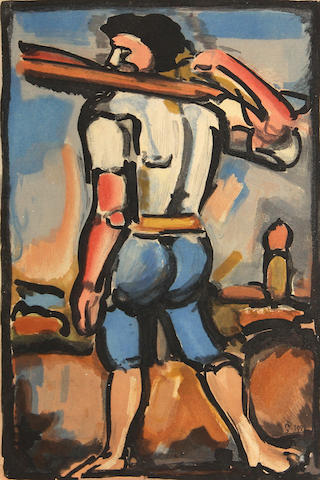 Georges Rouault, from Passion, (C/R 273), 1936, color aquatint;